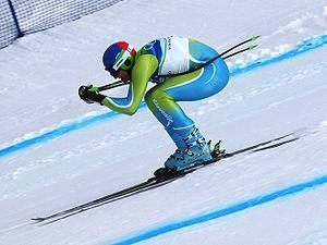 """Andrej Šporn at the 2010 Winter Olympic downhill"" by Jon Wick - originally posted to Flickr as Go Time. Licensed under Creative Commons Attribution 2.0 via Wikimedia Commons"